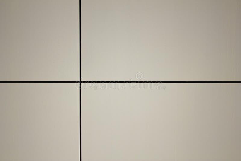 与黑垂直和水平的相交的条纹的白色灰色墙壁表面 免版税库存图片