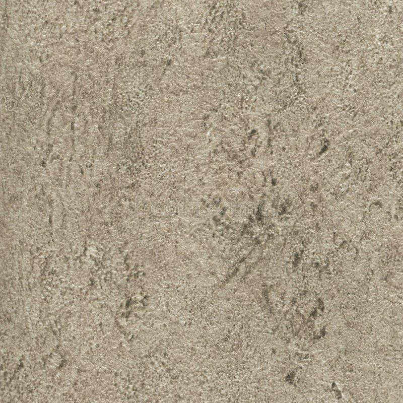 与黑小点的米黄石花岗岩纹理 免版税库存图片