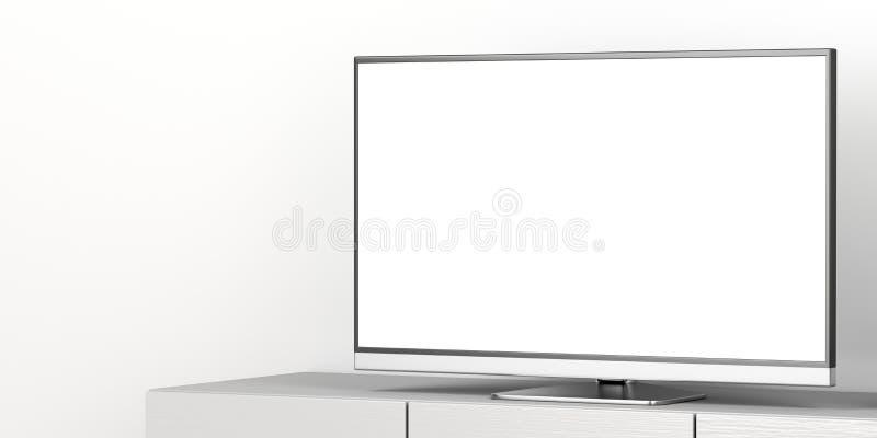 与黑屏的被带领的电视 向量例证