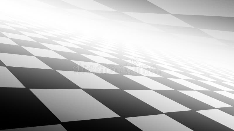 与黑白颜色的方格的抽象背景 皇族释放例证