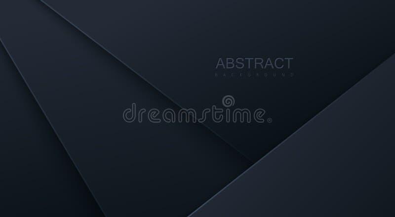 与黑纸层数的抽象3d背景 库存例证