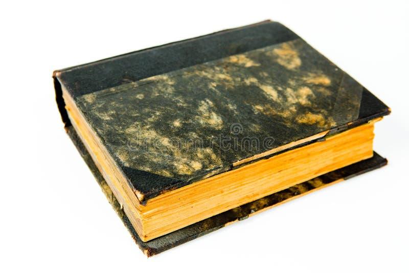 与黑织地不很细盖子的葡萄酒书 免版税库存图片