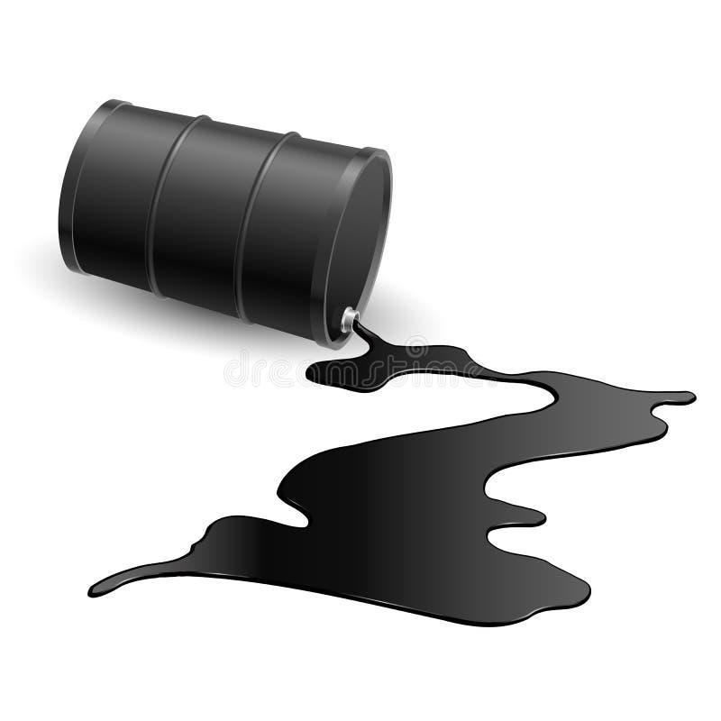 与黑色液体的桶 库存例证