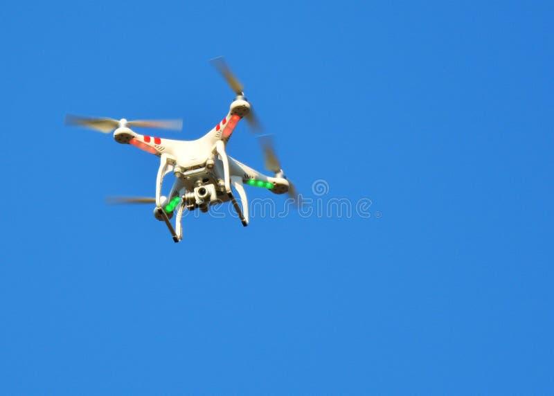 与登上的照相机的飞行寄生虫 库存照片