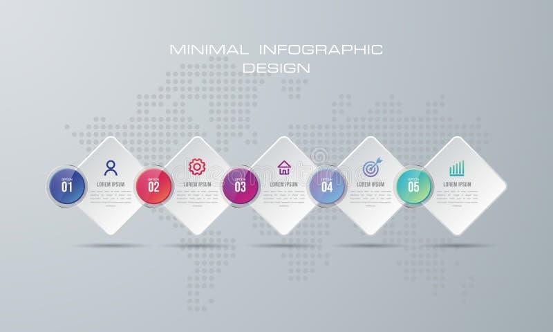 与5个选择的Infographic模板 库存例证