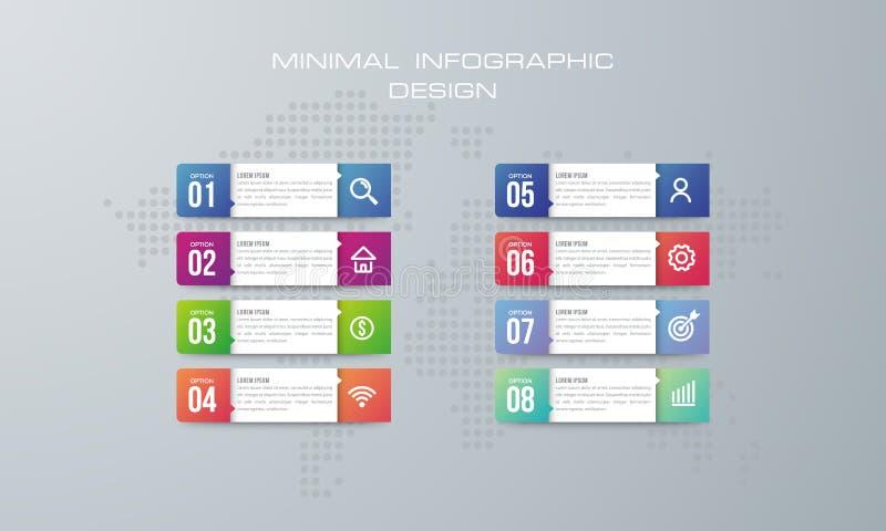 与8个选择的Infographic模板 皇族释放例证