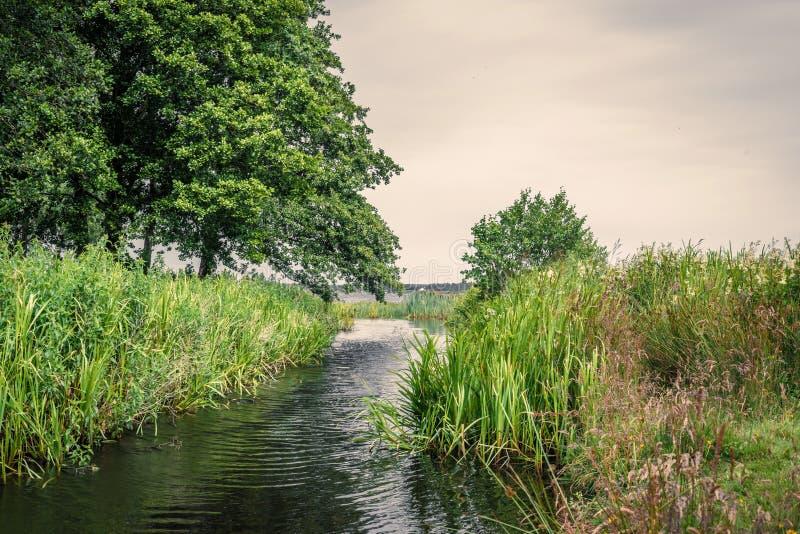 与仓促的小湖小河 库存照片