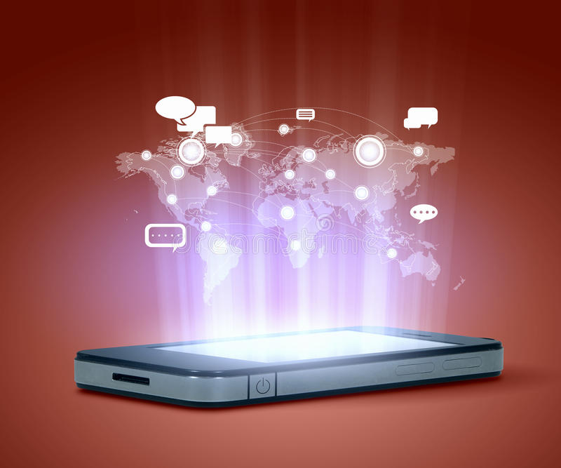 现代通讯技术 库存照片