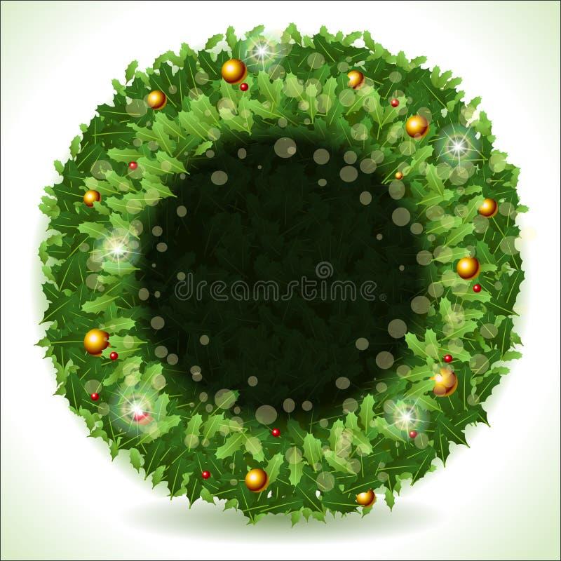 与黑占位符的花圈圣诞节 皇族释放例证