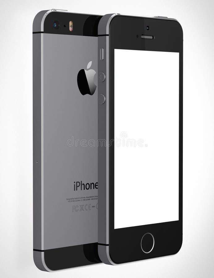 与黑屏的IPhone 5s 库存例证
