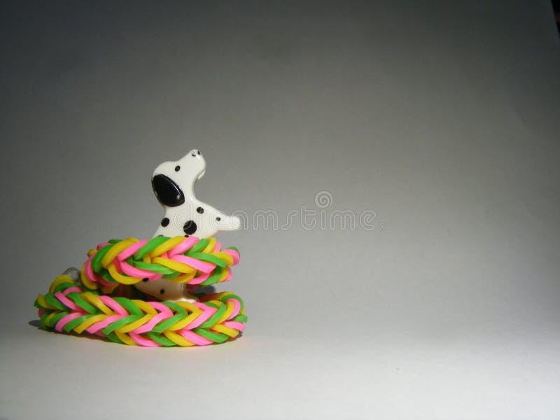 与织布机带的狗 库存图片
