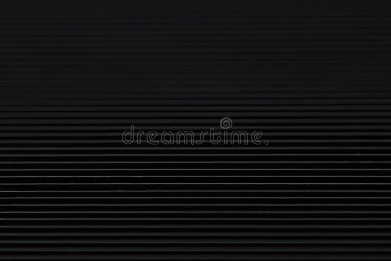 与水平线和倒栽跳水的抽象minimalistic黑镶边背景 免版税库存照片