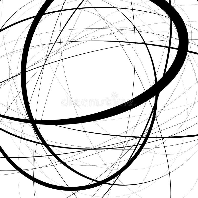 与紧张任意,不规则的线的艺术性的例证 r 皇族释放例证