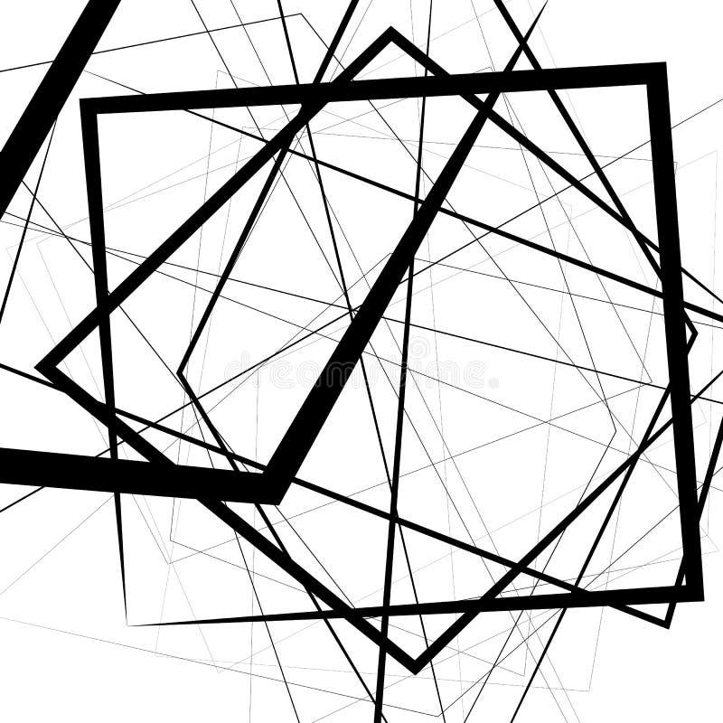 与紧张任意,不规则的线的艺术性的例证 r 库存例证