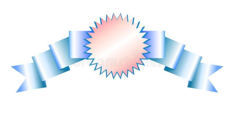与阴影和三种不同颜色的横幅现实贴纸 向量例证
