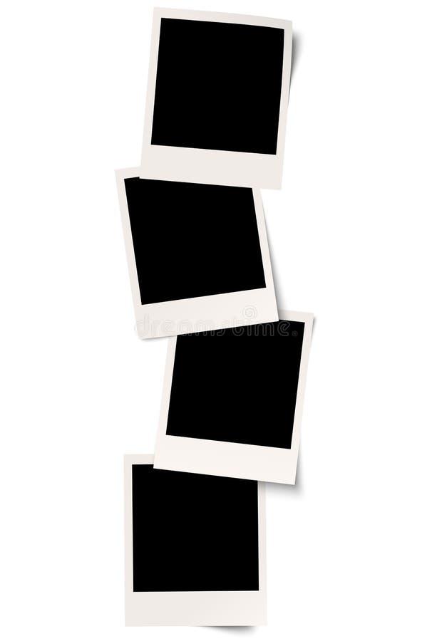 与阴影的四块人造偏光板在系列 库存例证