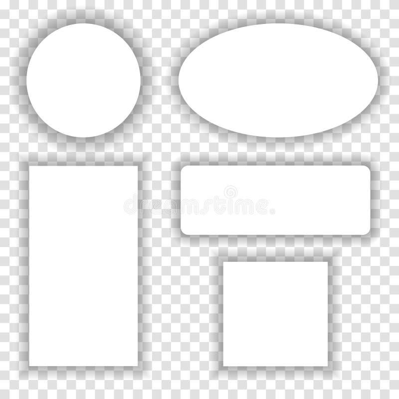 与阴影的白皮书框架在方格的背景 库存例证