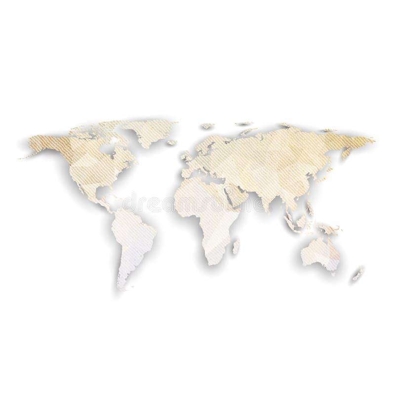 与阴影,织地不很细设计传染媒介的世界地图 皇族释放例证