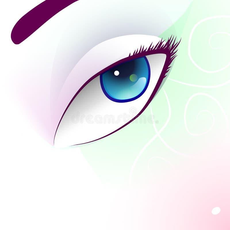 与幻想构成的眼睛 免版税图库摄影