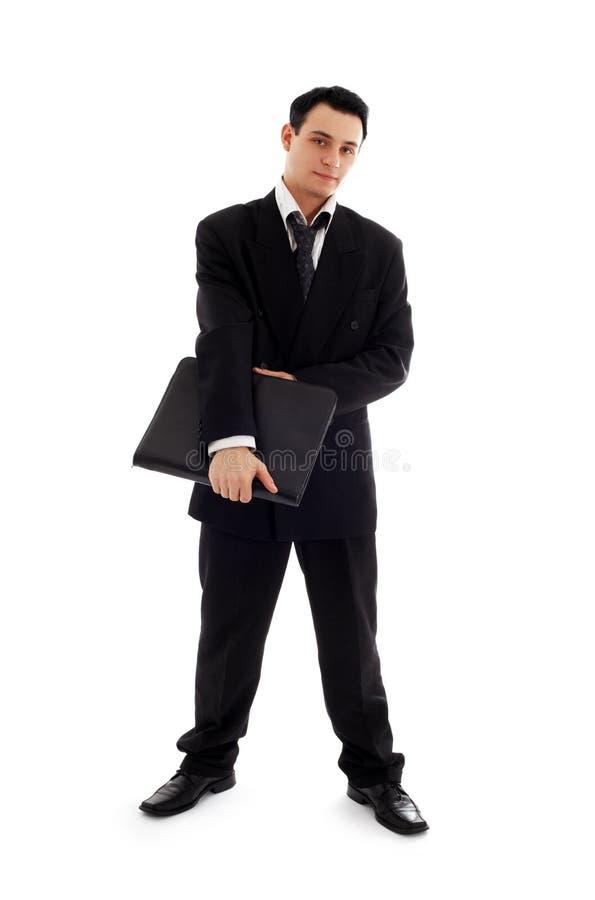 与黑文件夹#2的商人 免版税图库摄影