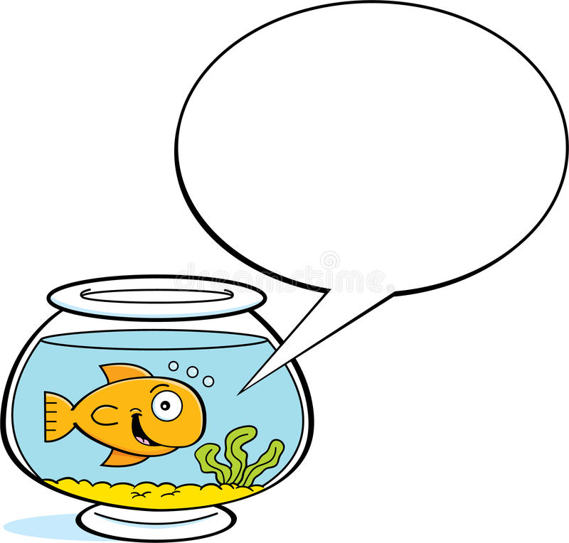 Download 与说明气球的动画片金鱼 向量例证. 插画 包括有 微笑, 敌意, 宠物, 逗人喜爱, fishbowl, 弯脚的 - 30330111