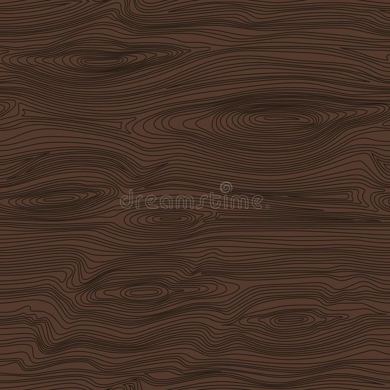与黑暗的木纹理的无缝的线性样式 木背景 皇族释放例证
