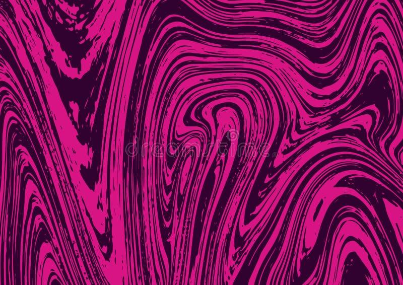 与黑暗的液体油漆泼溅物的浅粉红色的背景 库存例证