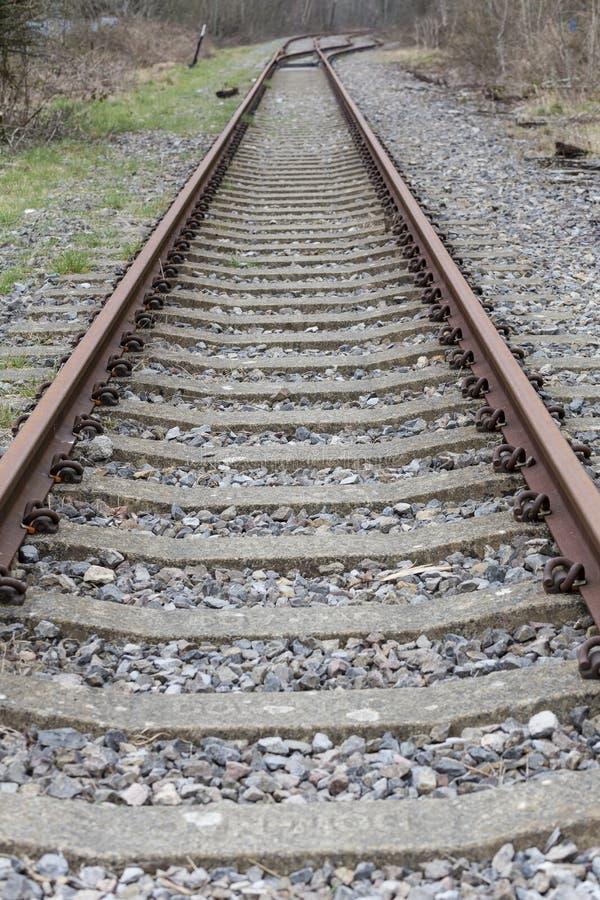 废弃的英国铁路轨道 库存照片