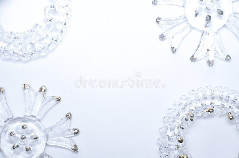 与玻璃元素的圣诞节模板 免版税库存照片