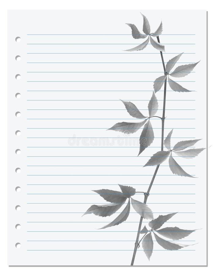 与黑白的弗吉尼亚爬行物枝杈的练习本 免版税库存图片