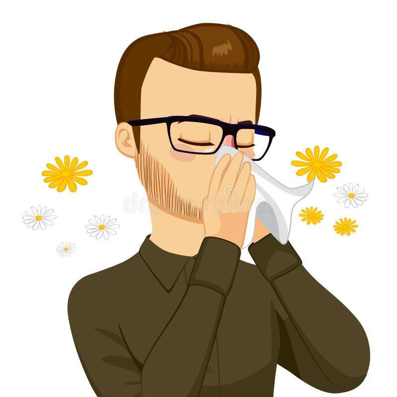 与组织的人吹的鼻子 向量例证