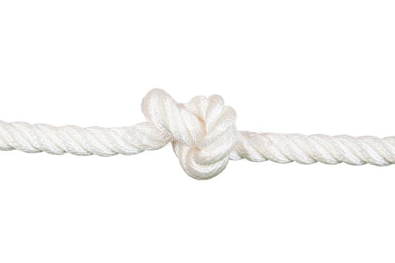 与结的船绳索 免版税图库摄影