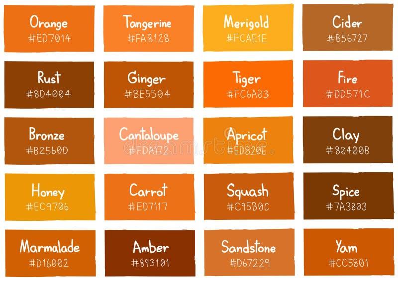 与代码和名字的橙色音色树荫背景 向量例证