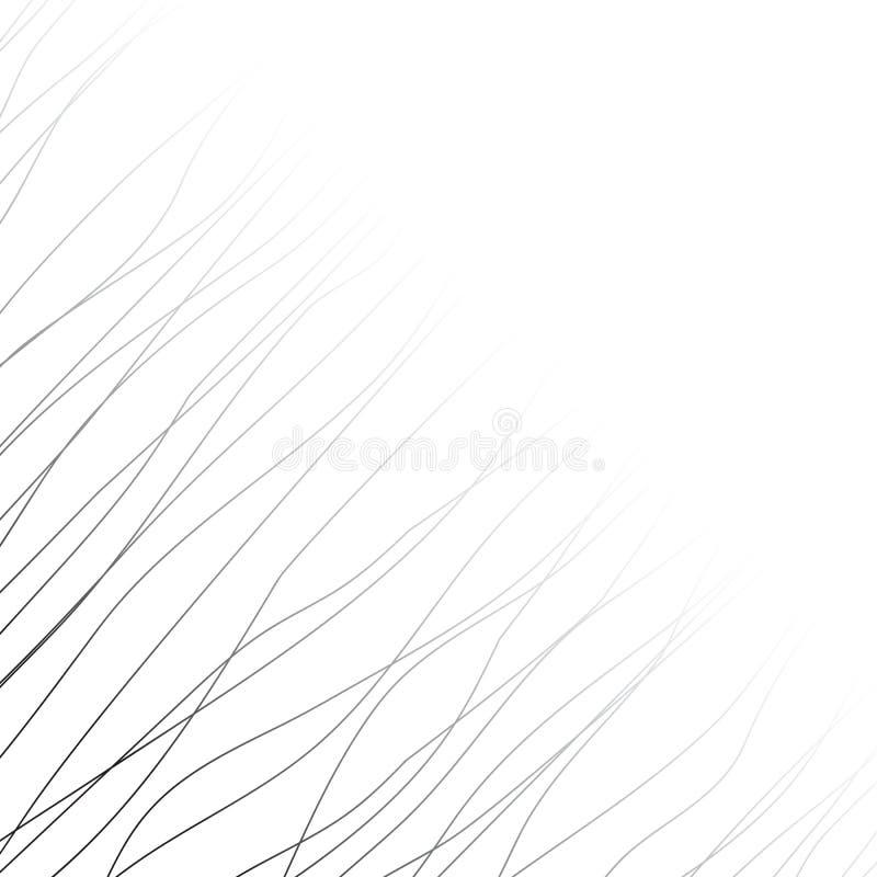 与黑线和曲线的背景 库存例证