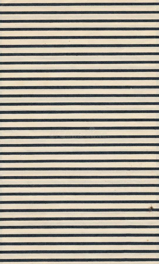 与黑线背景的葡萄酒纸页板料 免版税库存照片