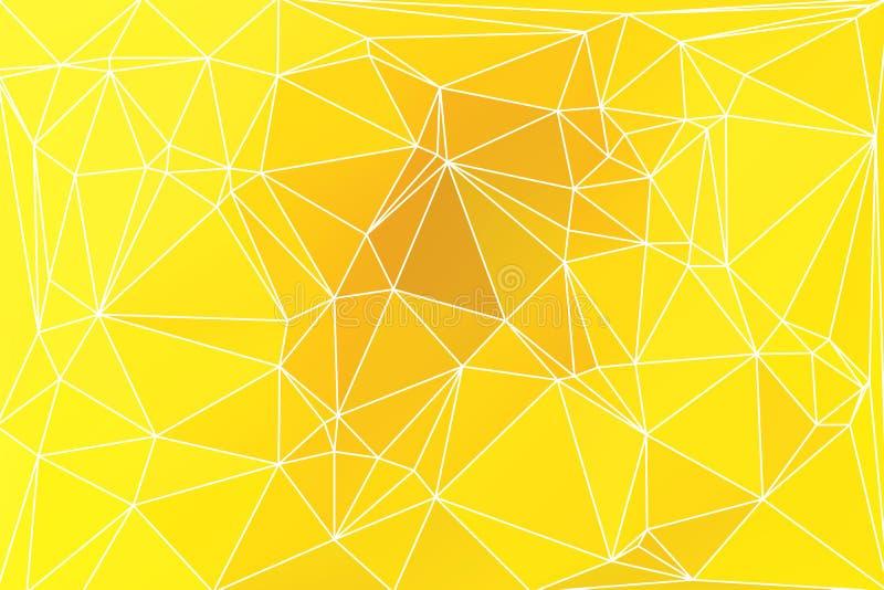 与滤网的明亮的金黄黄色几何背景 库存例证