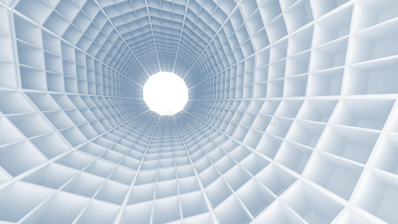 与细胞的隧道内部 皇族释放例证
