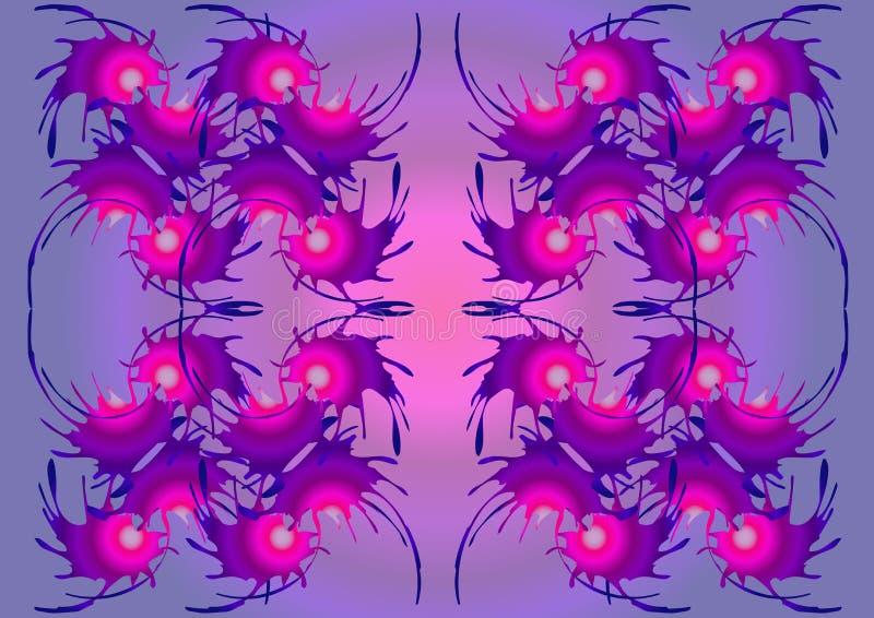 与紫色口气的抽象超现实的背景 皇族释放例证