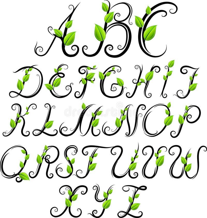 Eco字母表 库存例证