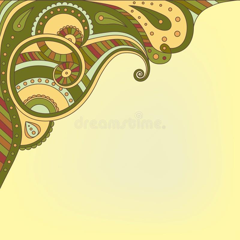 Download 与抽象装饰品的背景 向量例证. 插画 包括有 装饰, 抽象, 典雅, 感激的, 主题, 例证, 装饰品, 绿色 - 30330373