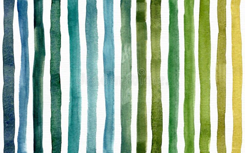 与绿色条纹纹理的无缝的明亮的光栅样式 大光栅例证 向量例证