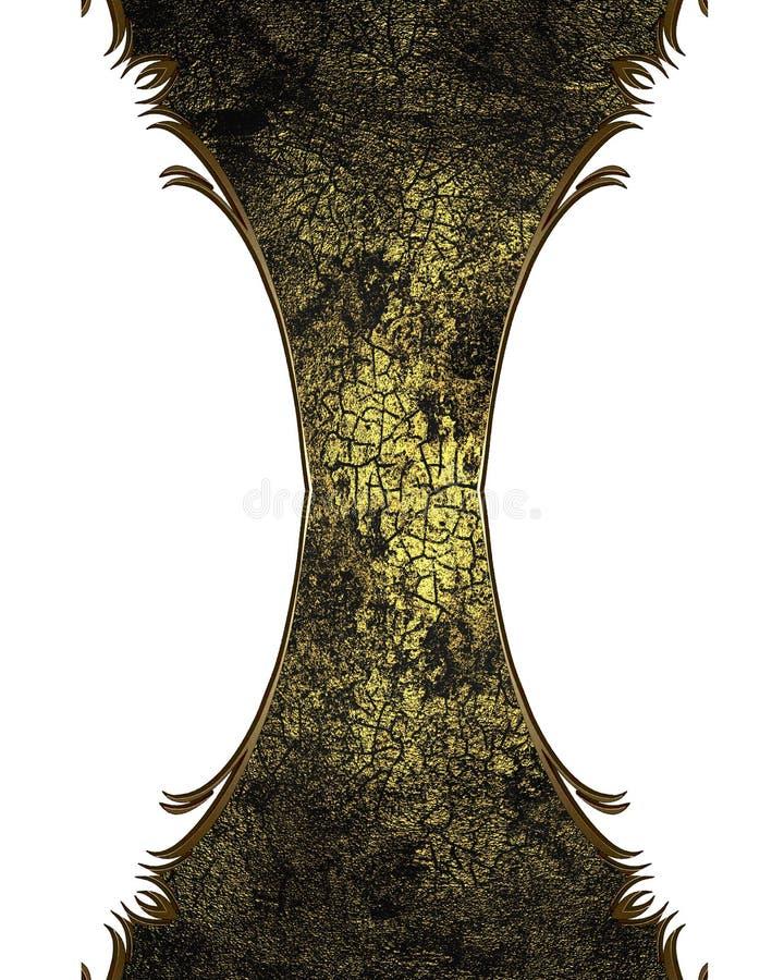 与黄色淡色调的难看的东西破裂的结构 向量例证