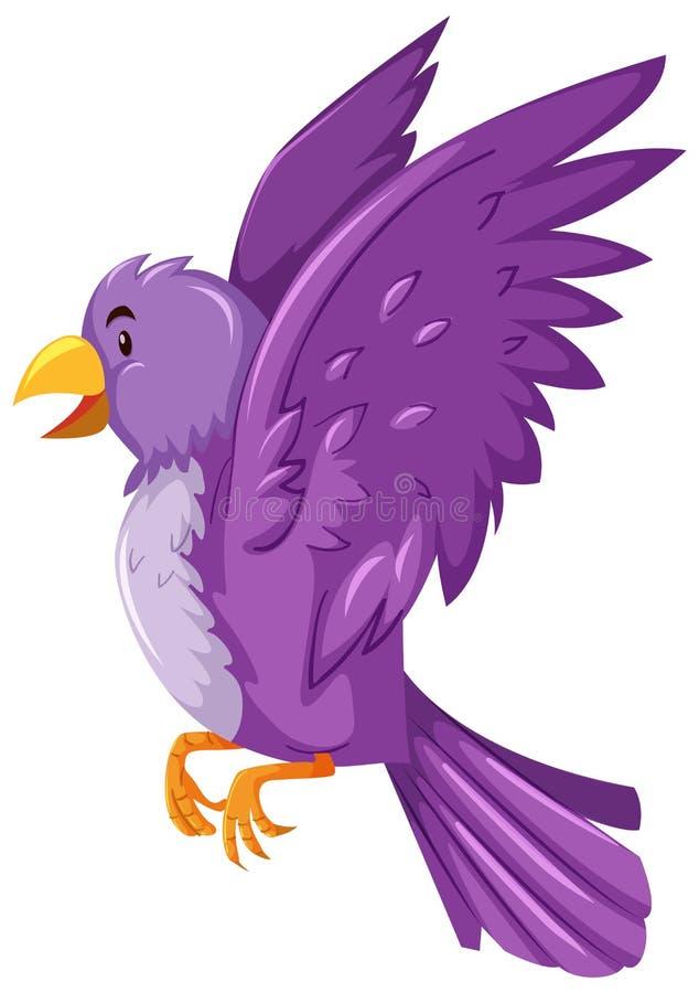 与紫色羽毛的鸟 向量例证