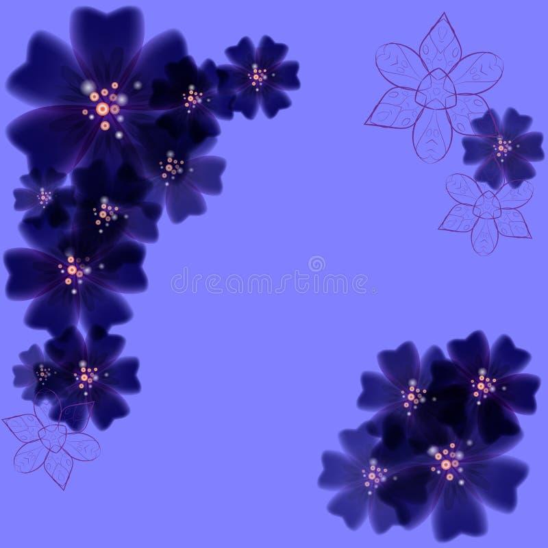 与紫色花的开花的背景 皇族释放例证
