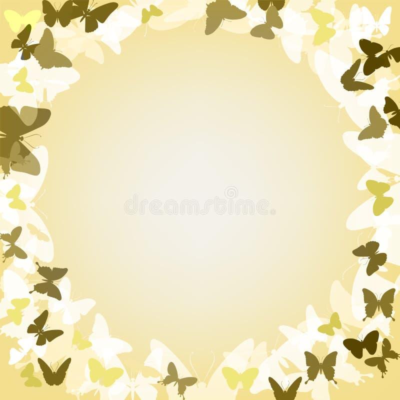 与蝴蝶的传染媒介浪漫背景 免版税库存图片