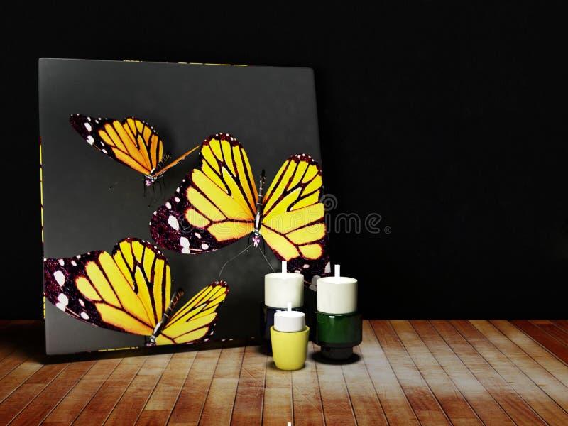 与蝴蝶的图片 库存例证