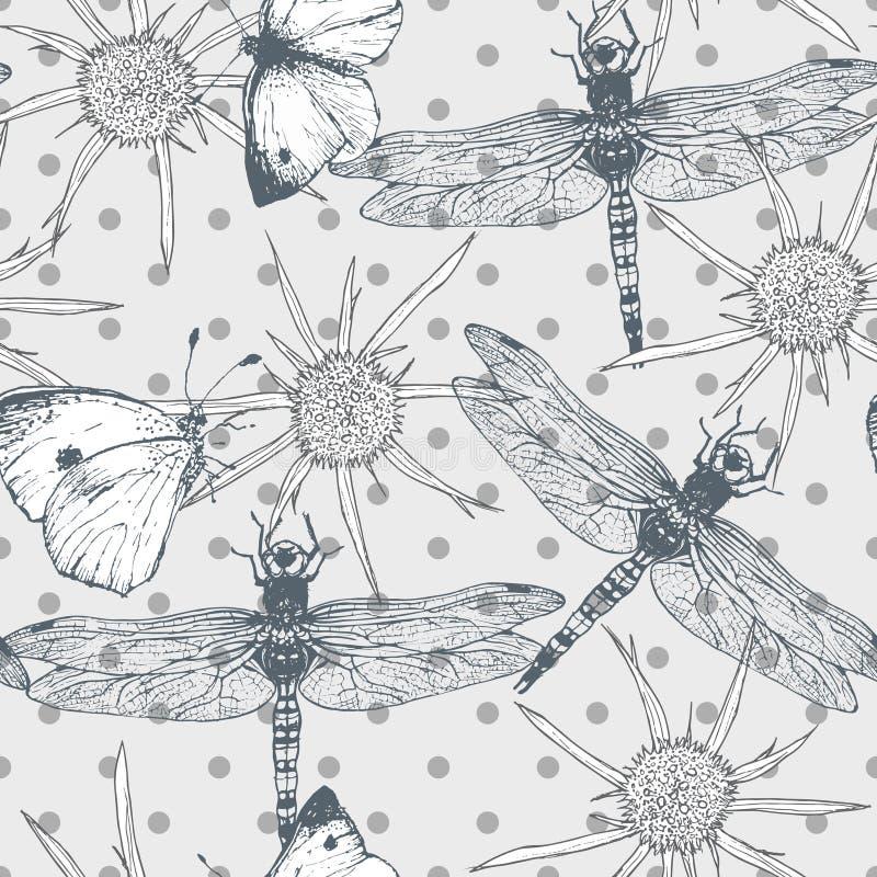 与蝴蝶的无缝的样式和