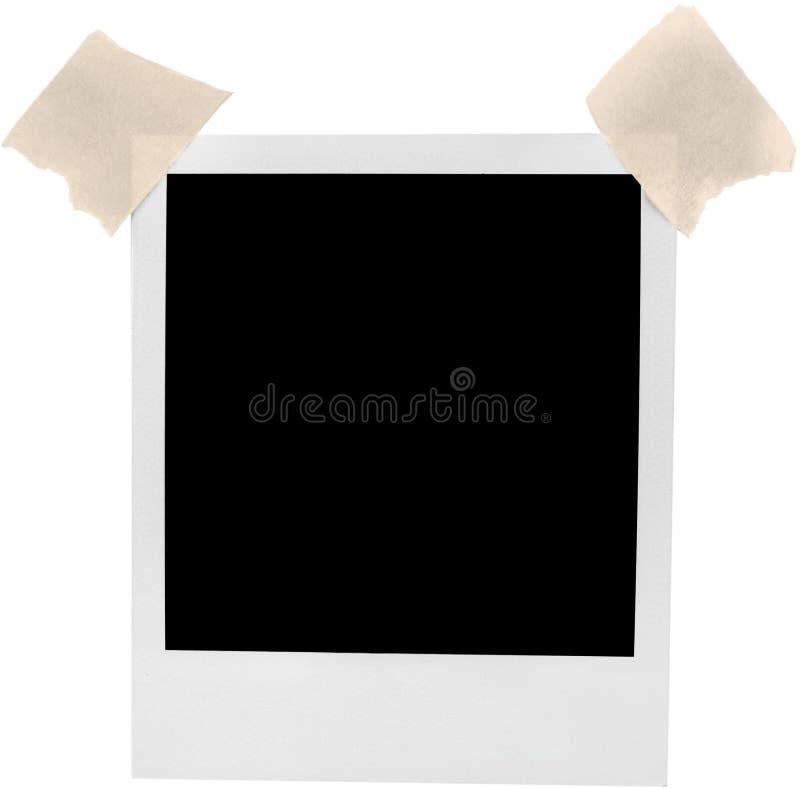 与-被隔绝的橡皮膏的空白的偏正片框架 库存图片