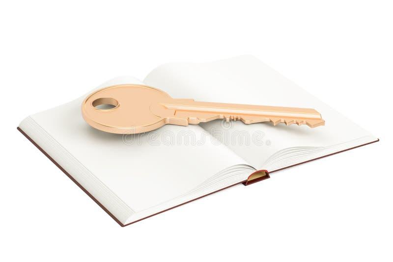 与贿赂, 3D的被打开的空白的书翻译 皇族释放例证