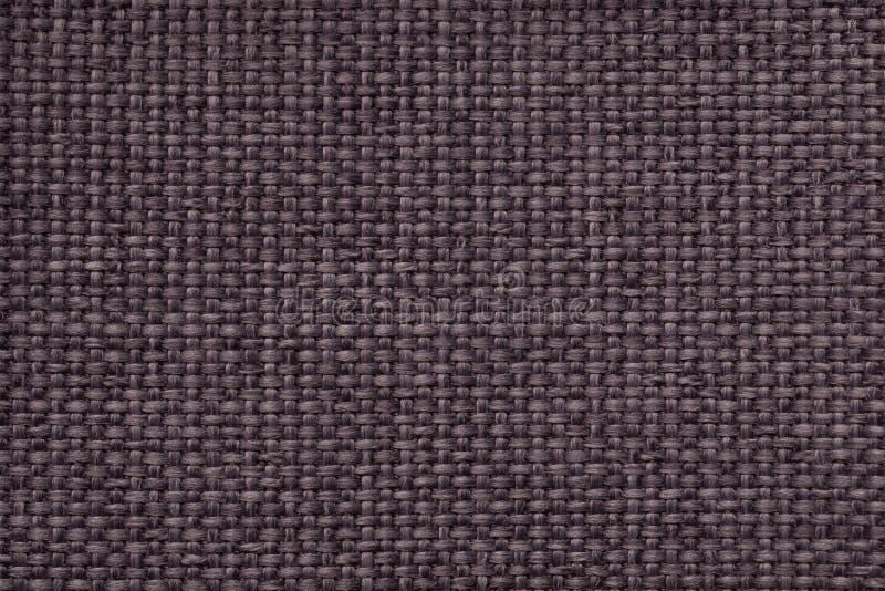 与结辨的方格的样式,特写镜头的布朗背景 机织织物的纹理,宏指令 图库摄影